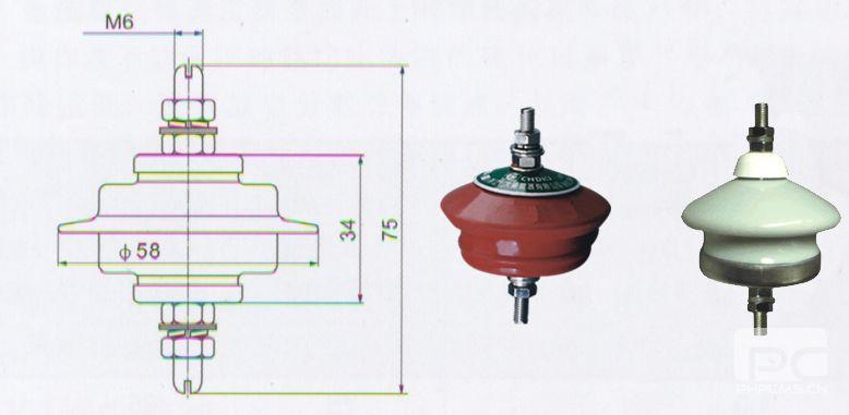 HY1.5W-0.28/1.3、HY1.5W-0.5/2.6低压型避雷器